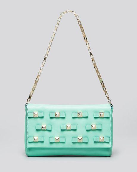 Kate spade shoulder bag bow terrace felisha in green mint cream