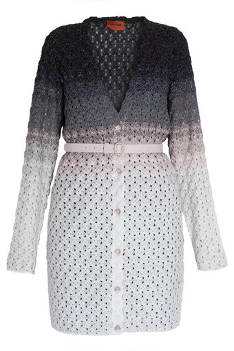 Missoni Mid Length Lurex Cardi with Belt - Lyst