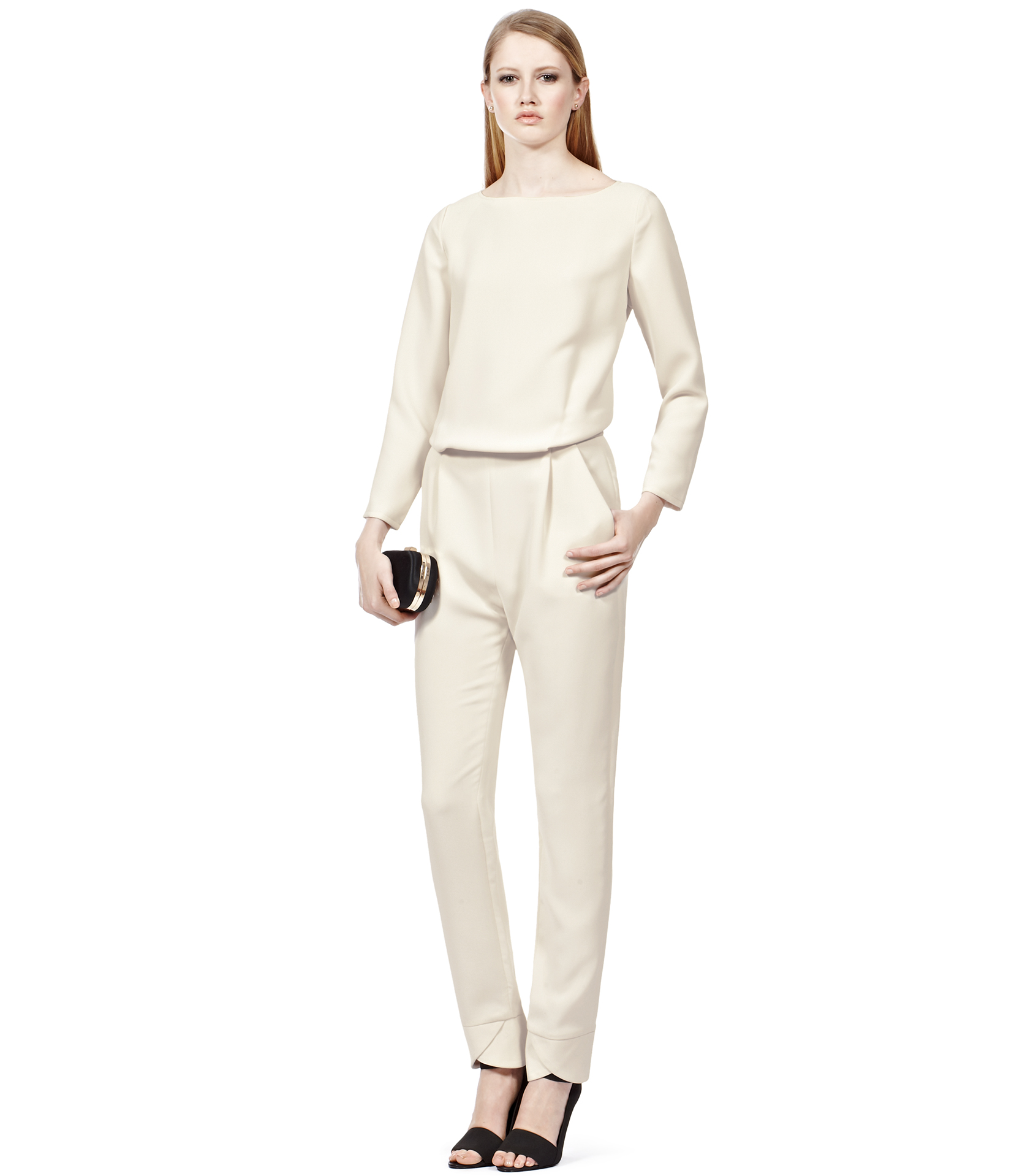 8e0437b2c0 Lyst - Reiss Link Slouch Lounge Suit in Natural