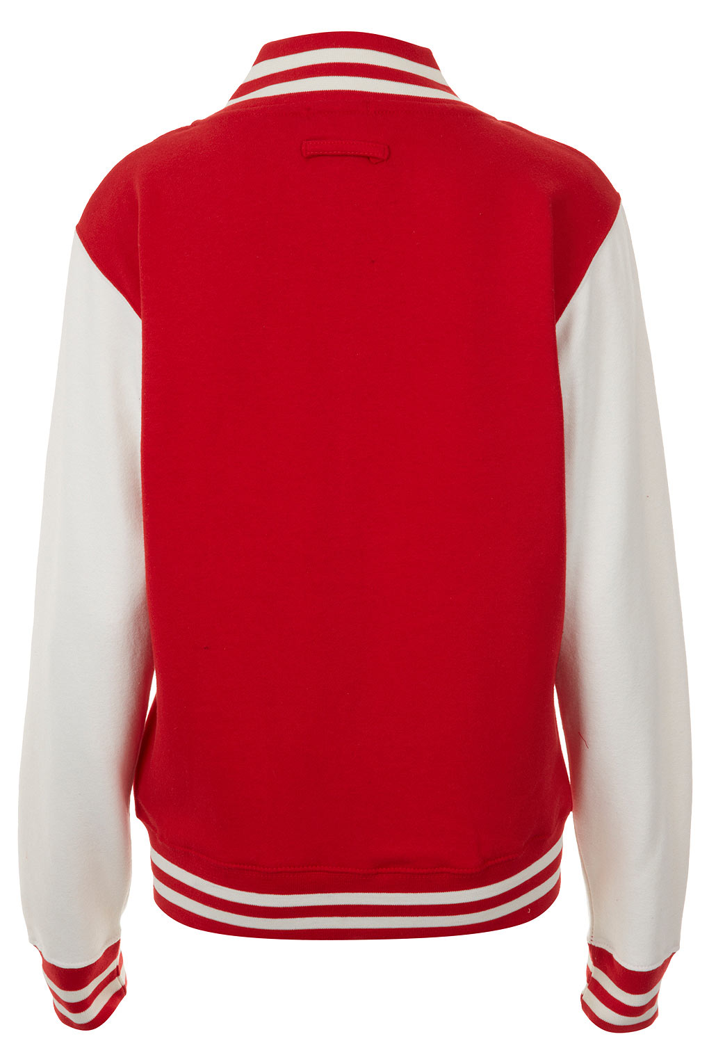 Topshop Plain Varsity Jersey Bomber Jacket In Red Lyst