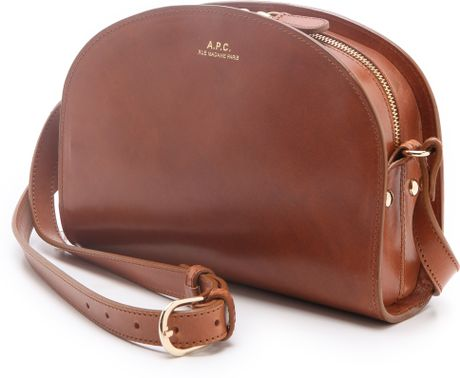 a p c half moon handbag in brown lyst. Black Bedroom Furniture Sets. Home Design Ideas