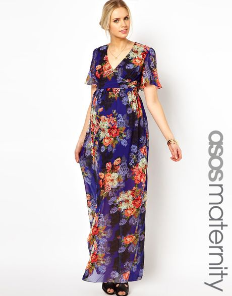 Asos Maternity Maxi Dress in Vintage Floral Print in ...