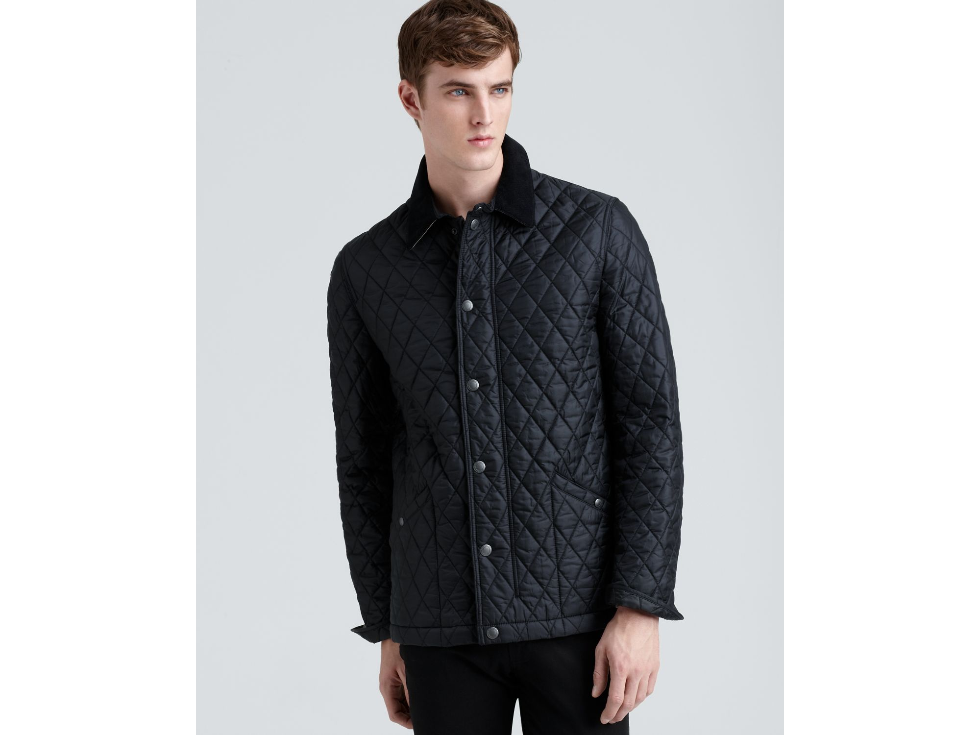Lyst Burberry Brit Roden Quilted Barn Jacket In Black For Men