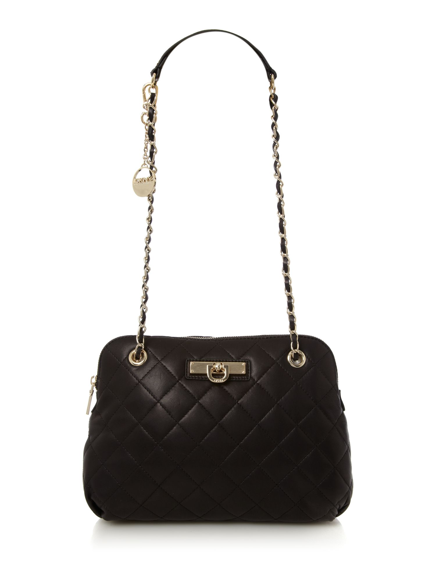 DKNY Medium Quilted Crossbody Bag in Black