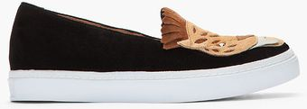 Jeffrey Campbell Black and Tan Suede Face Man Big Cat Loafers - Lyst