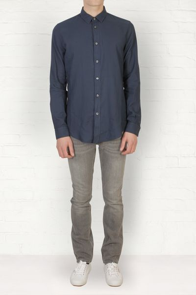 Maison Margiela  Regular Cotton Shirt in Blue for Men (navy)