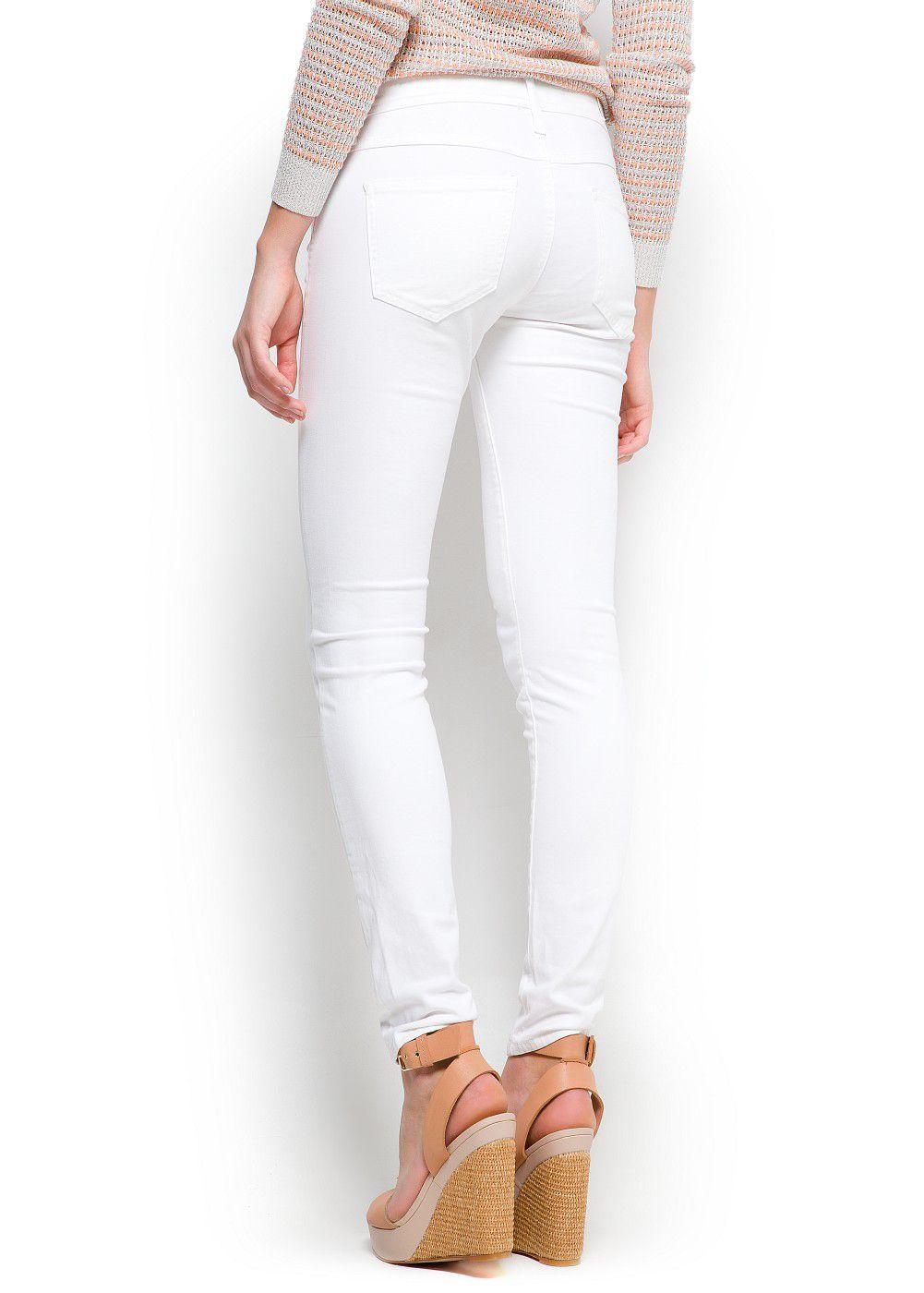 Mango Super Slim Jeans in White