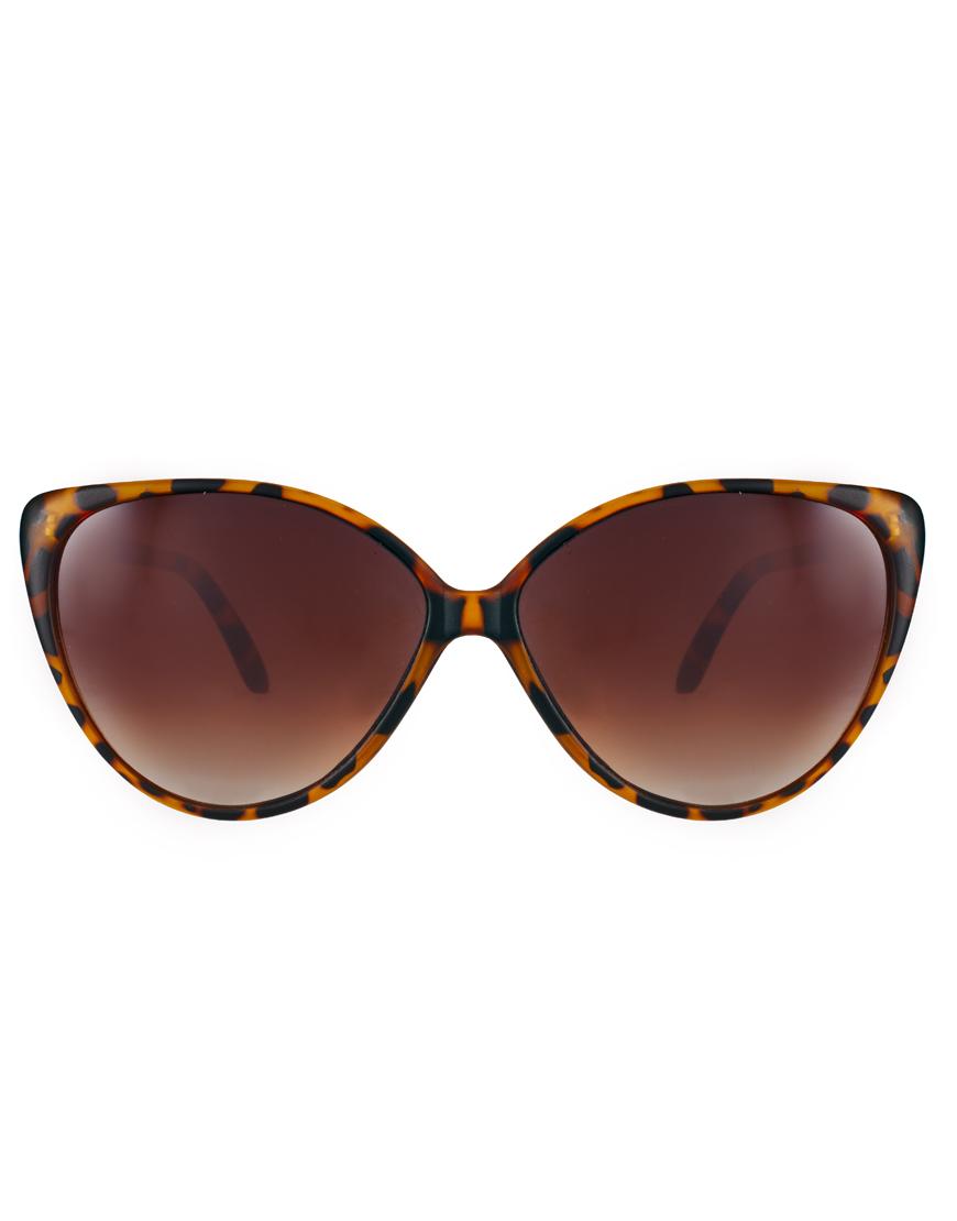 Sunglasses Island  river island claudia cateye sunglasses in brown lyst