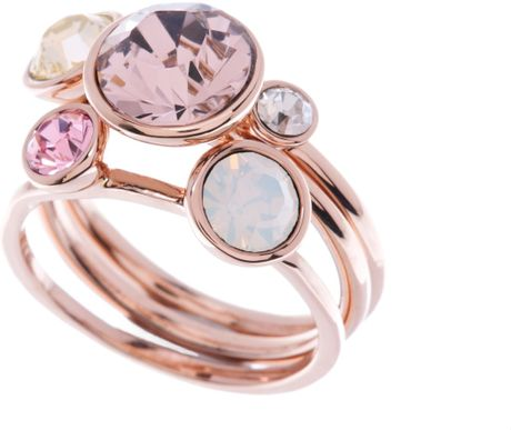 Ted Baker Jackie Pink Jewel Stack Ring In Pink Lyst