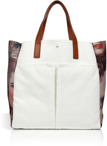 Anya Hindmarch Whitemulti Canvas Nevis Lady Tote - Lyst