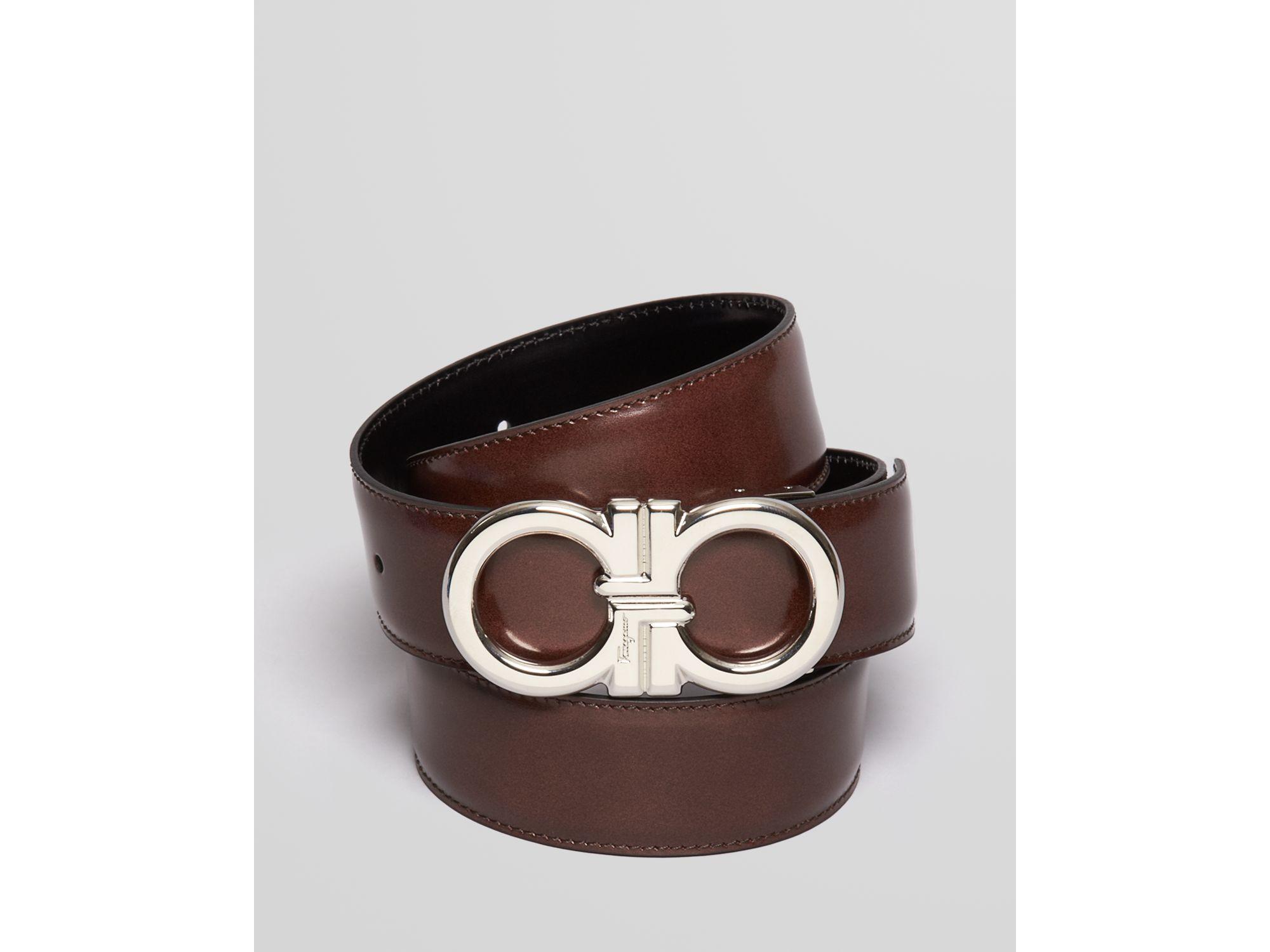 Ferragamo Reversible Gancini Buckle Belt in Brown for Men ...