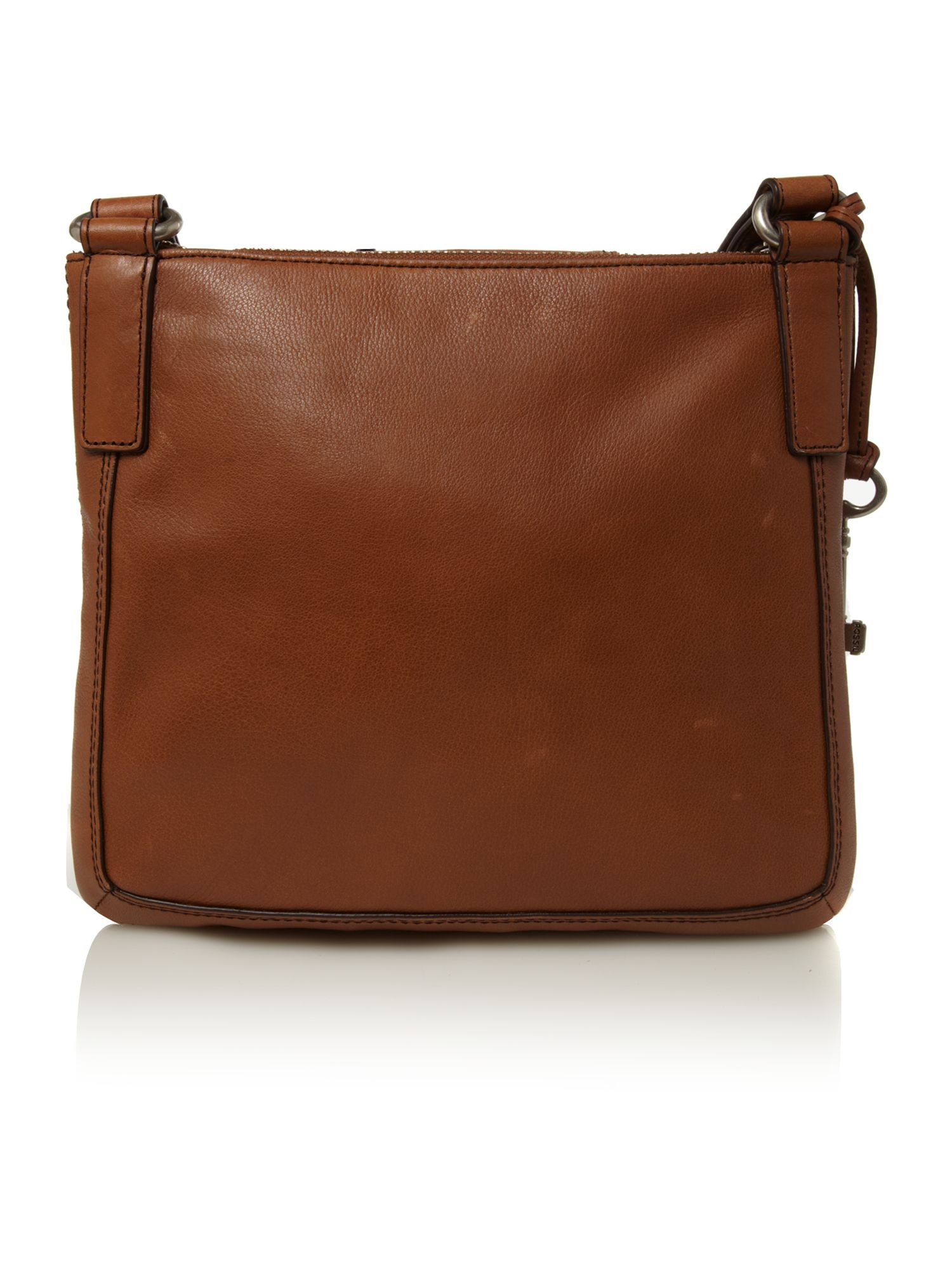 Fossil Large Cross Body Bag in Brown
