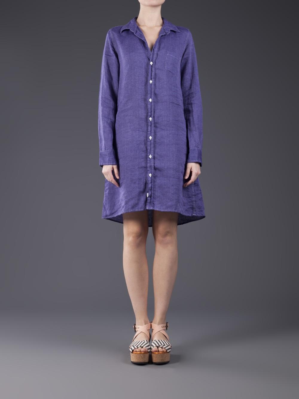 915d39efc6 Lyst - Frank   Eileen Murphy Shirtdress in Purple