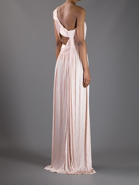 Givenchy One Shoulder Evening Dress In Pink Lyst