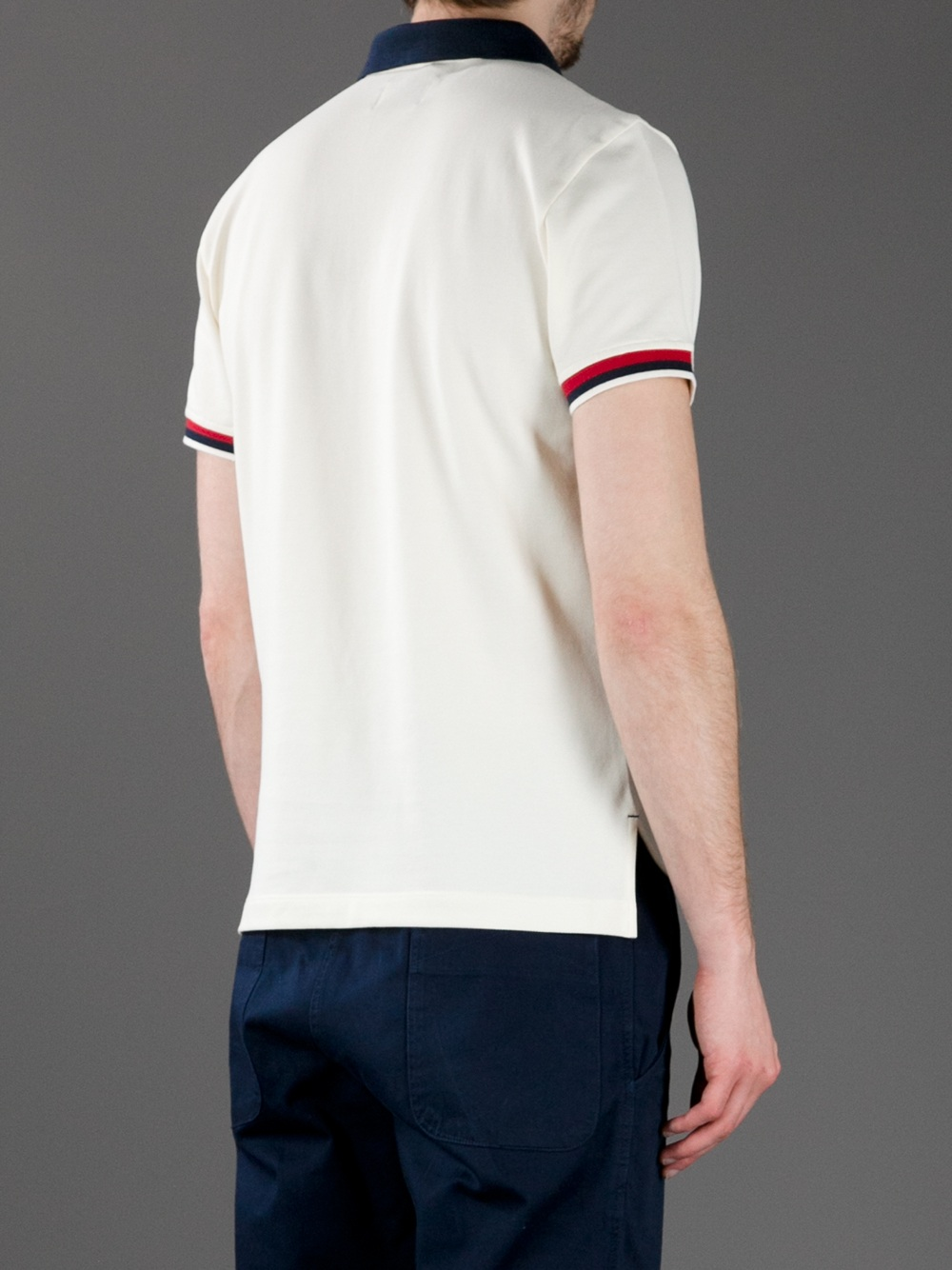 3 MONCLER GRENOBLE Polo Shirt in Cream (Natural) for Men