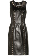 Versace Cutout Leather Dress