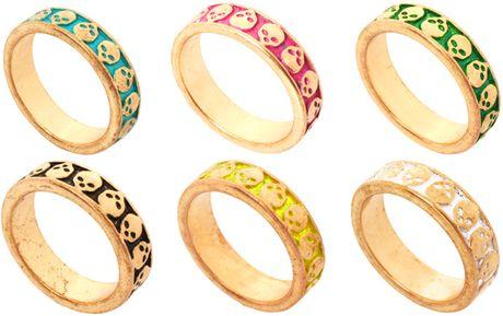 Asos Multipack Skulls Rings in Multicolor (multi)