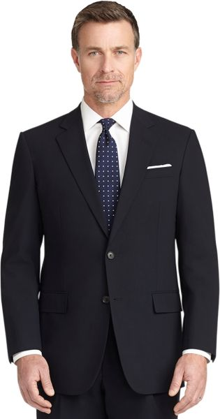 Brooks brothers madison fit brookscool solid suit in blue for Brooks brothers dress shirt fit guide