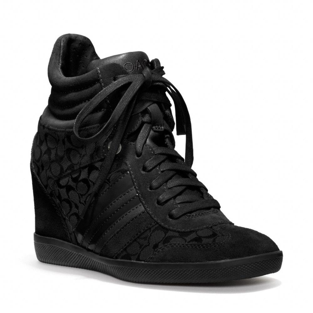 7eb82576d1 COACH Black Alara Wedge Sneaker