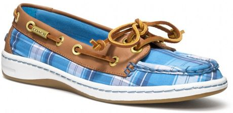Coach Richelle Boat Shoe in Blue (lt blue chalk/ginger