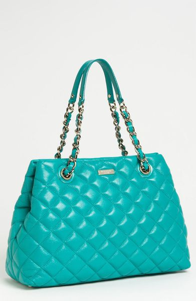 Kate Spade Quilted Leather Shopper in Blue (end of color list verna)