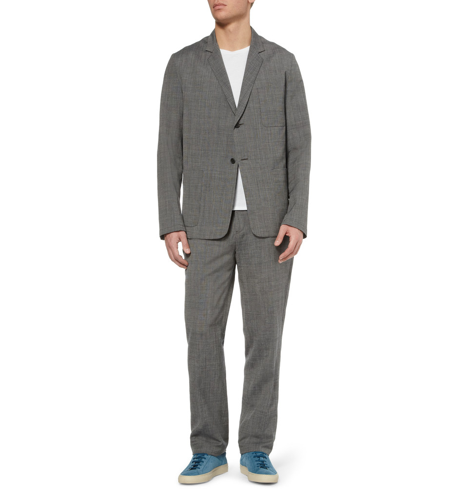 Margaret Howell Grey Unstructured Wool and Linenblend Suit Jacket in Grey for Men