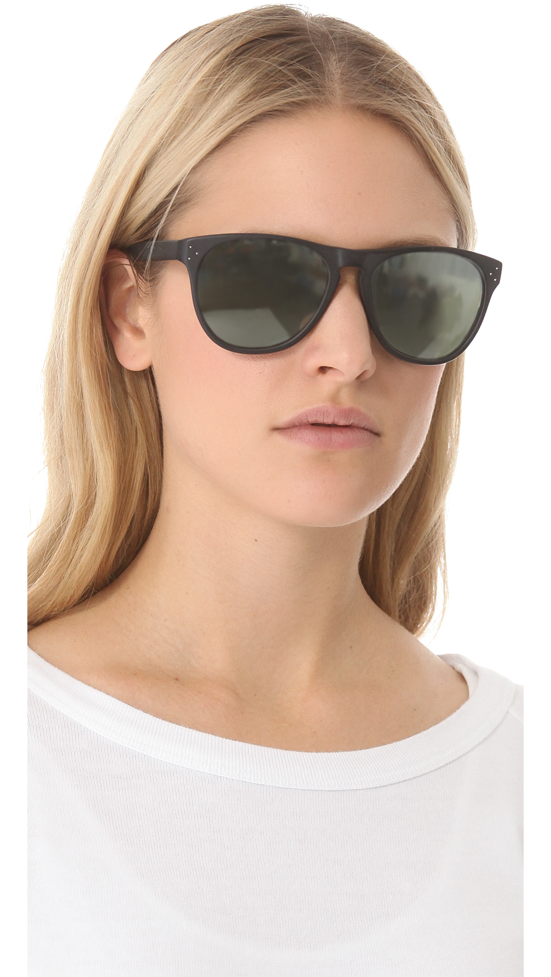 Oliver Peoples Daddy B Mirrored Sunglasses In Black Lyst
