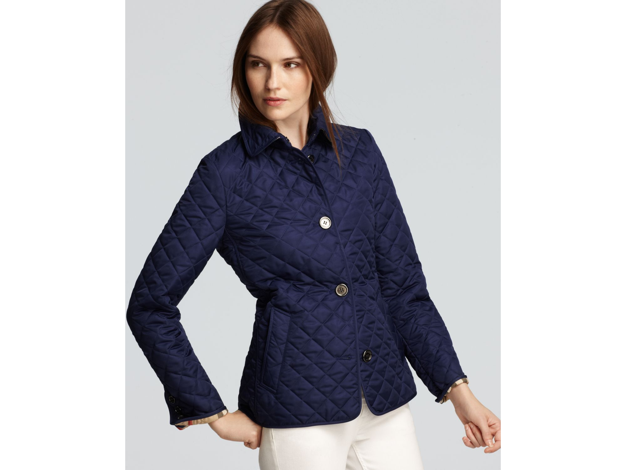Burberry Brit Copford Quilted Jacket In Blue Lyst