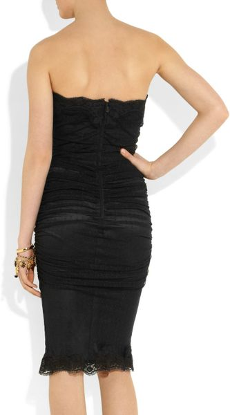 Dolce Amp Gabbana Lace Bustier Dress In Black Lyst