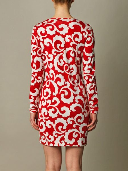 Dvf Reina Dress Red Reina Dress in Red