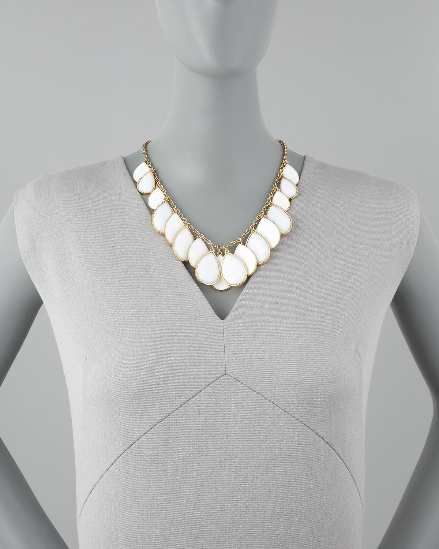 Lyst Kate Spade Teardrop Necklace In White