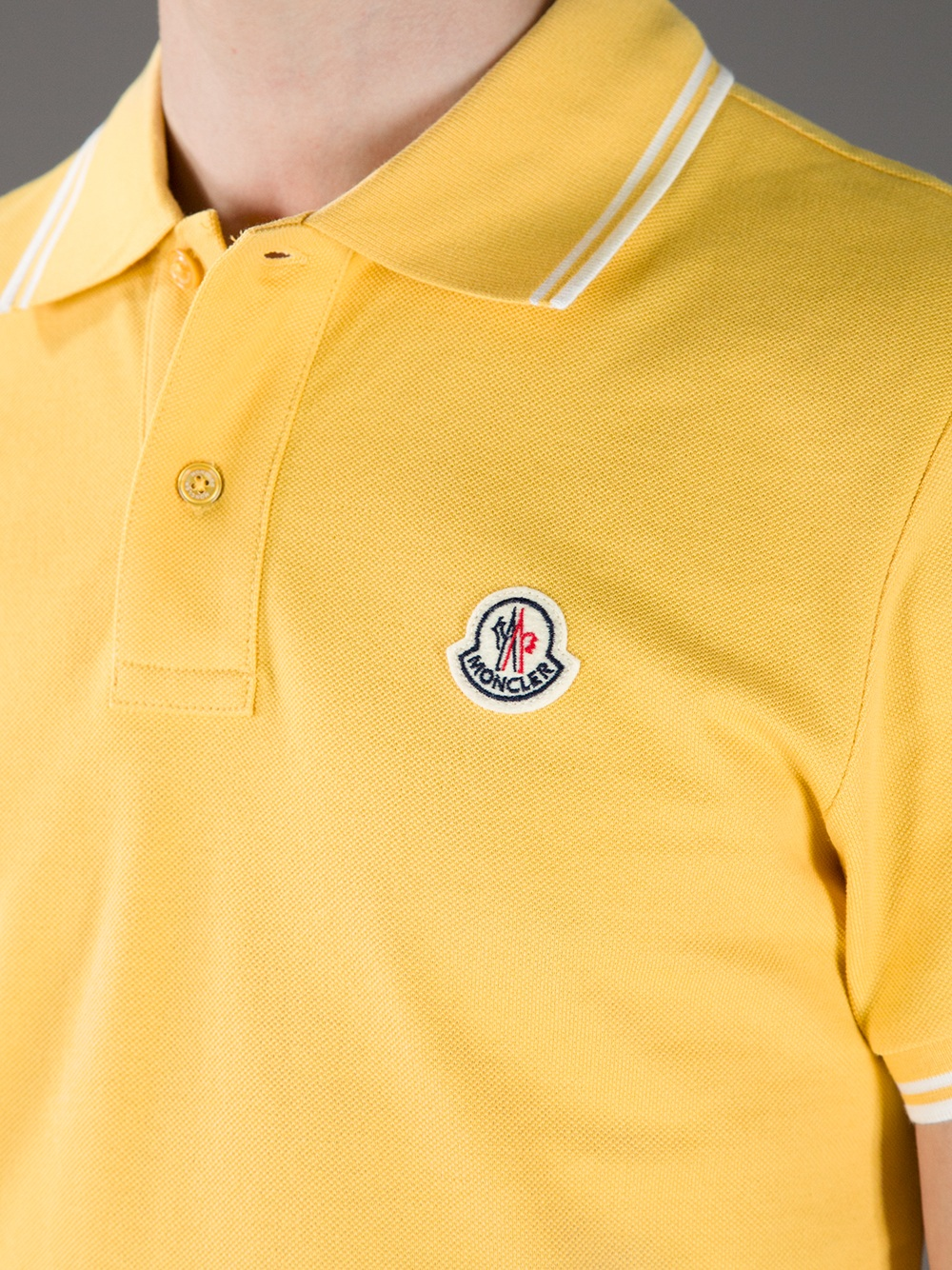 7b2e83c5a Moncler Classic Polo Shirt in Yellow for Men - Lyst