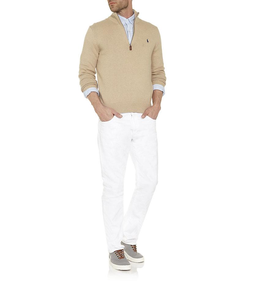 polo ralph lauren varick slim fit jean in white for men. Black Bedroom Furniture Sets. Home Design Ideas