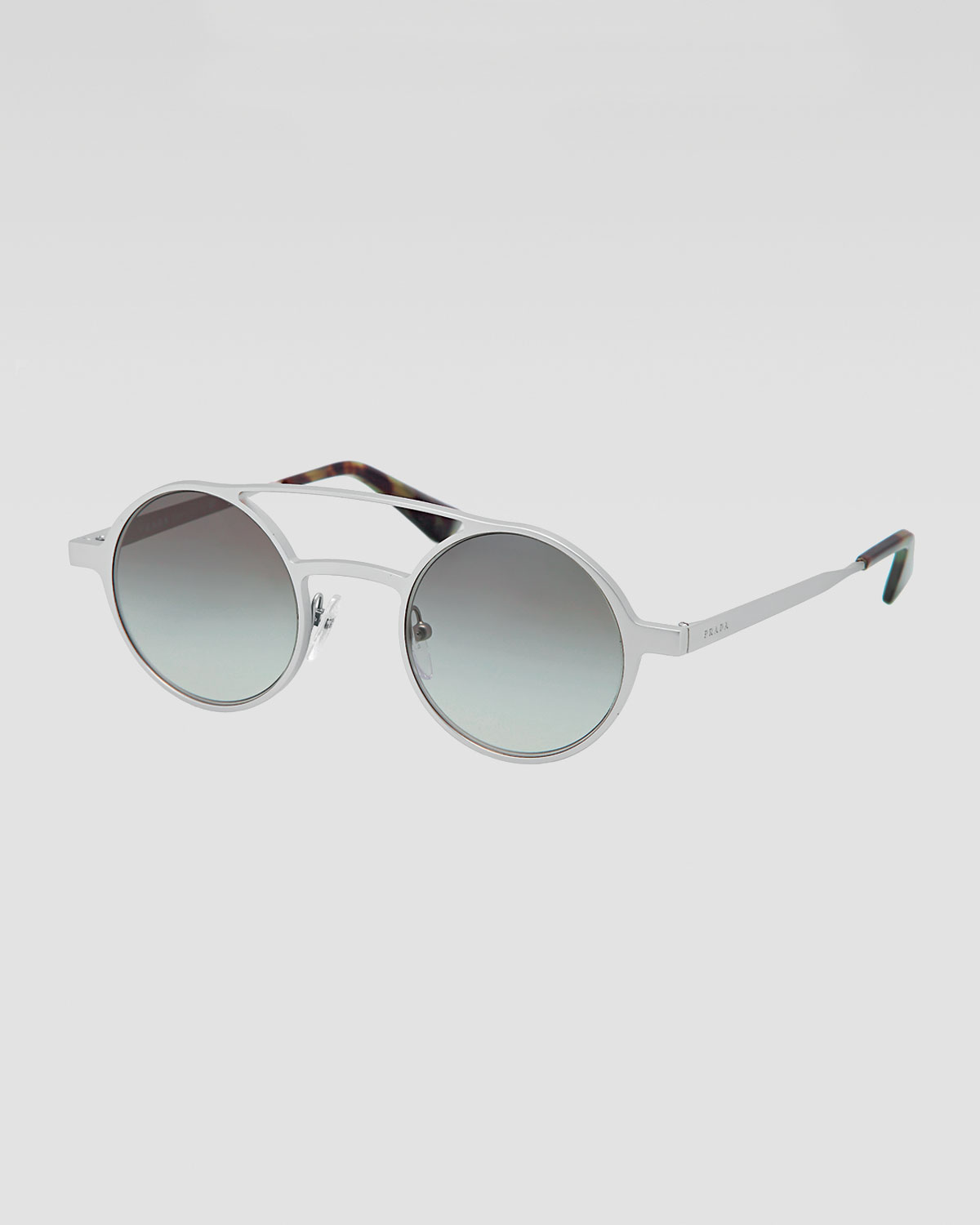 9f85806d82d Lyst - Prada Round Keyhole Sunglasses in Gray for Men