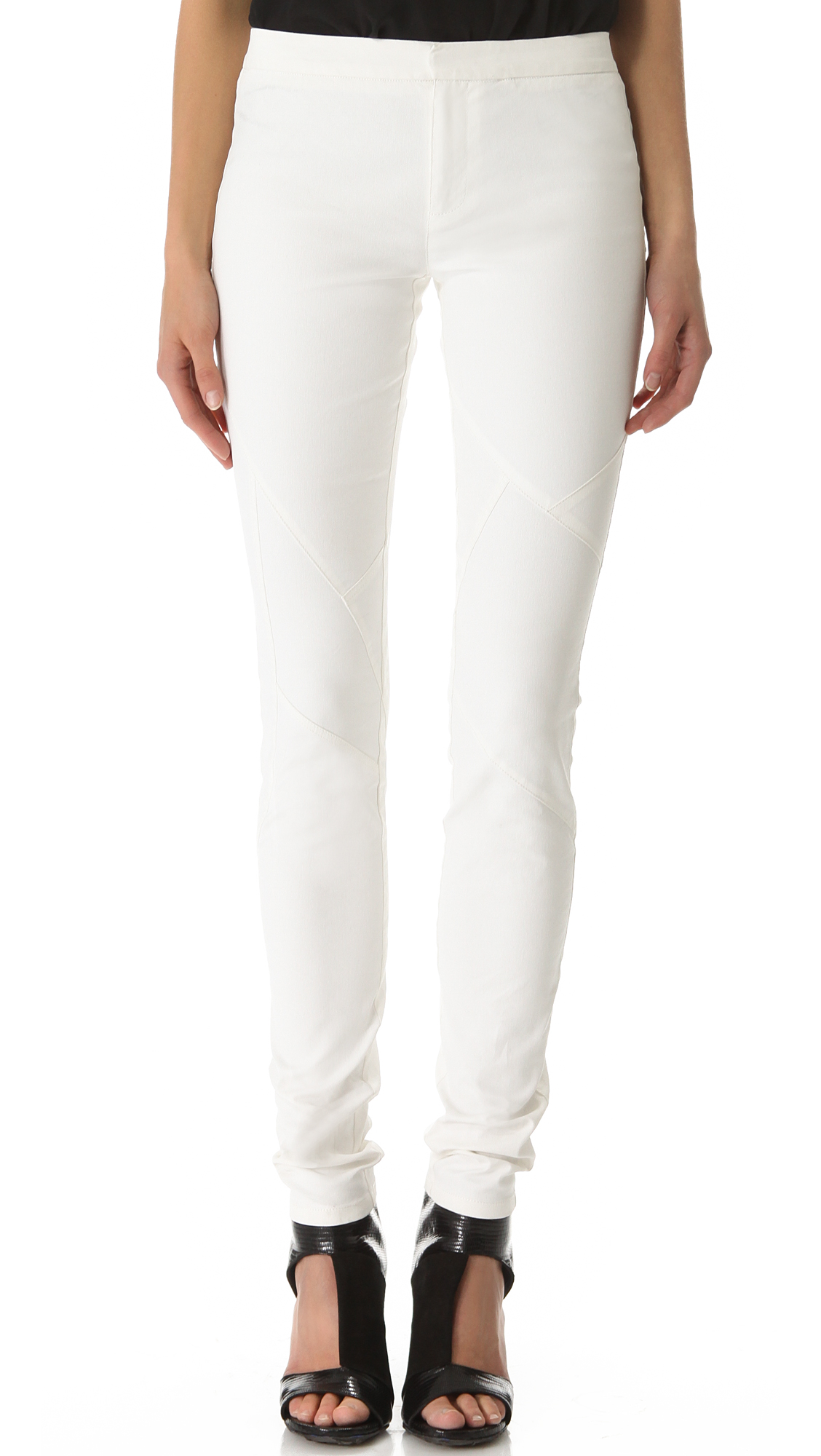 White Jean Leggings are a wise choice to indulge your relaxed side. Look for the material and clothing size from the many listed items to find exactly what you need. Sift through a .