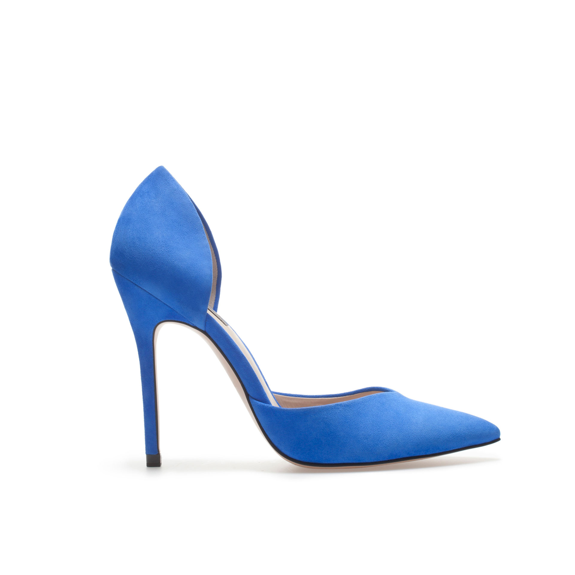 Zara High Heel Vamp Shoe In Blue Lyst