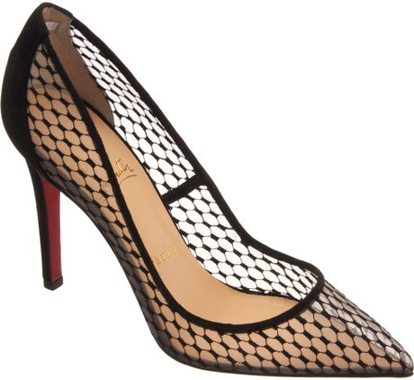 Christian Louboutin Pin Toe Pumps in Transparent (black)