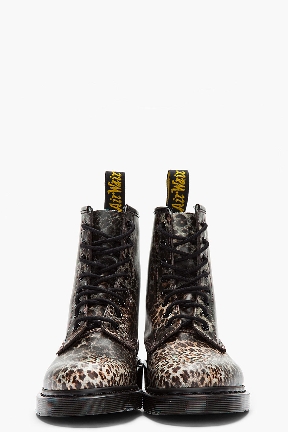 Dr Martens Leopard Print Leather Boots Lyst
