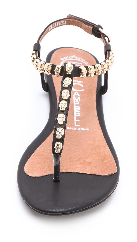 Jeffrey Campbell Calavera Skull Studded Sandals In Black
