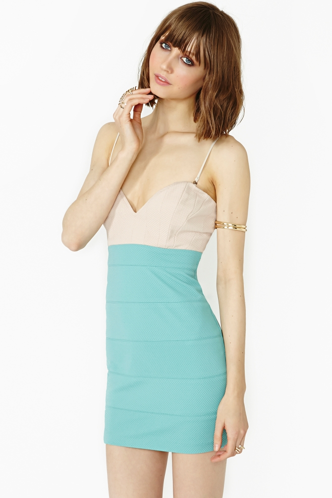 Lyst - Nasty Gal Color Theory Dress In Green-3592