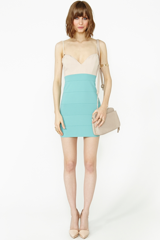 Lyst - Nasty Gal Color Theory Dress In Green-4446