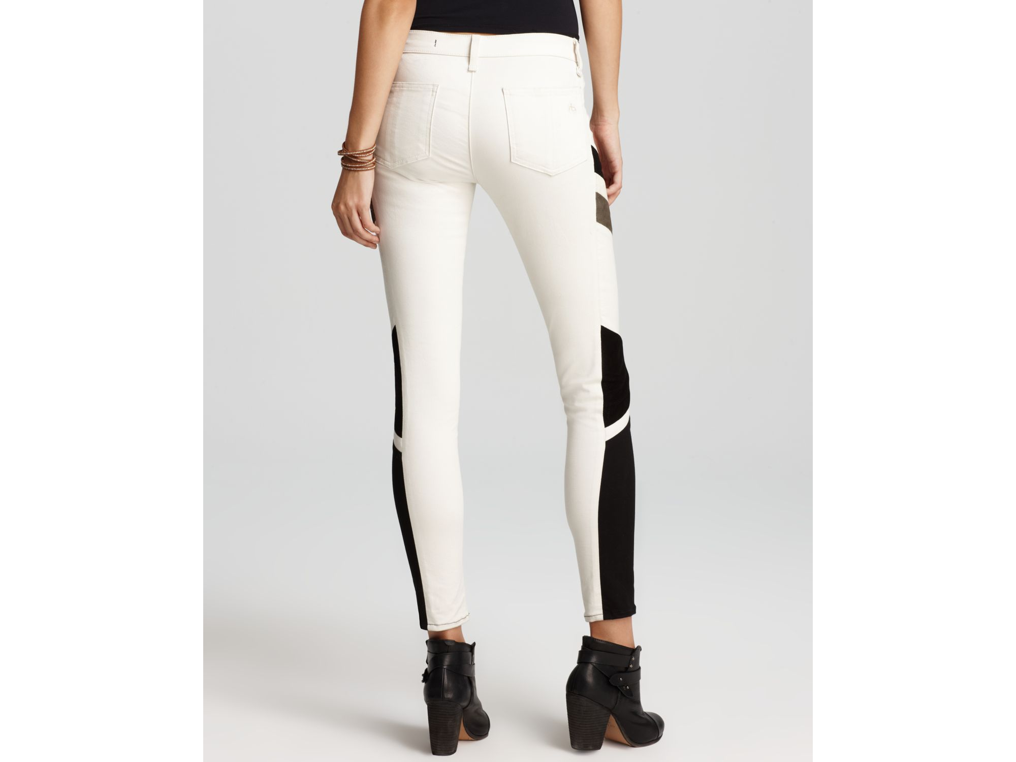 Rag amp Bone Jeans The Halifox Leggings in Winter White Wash