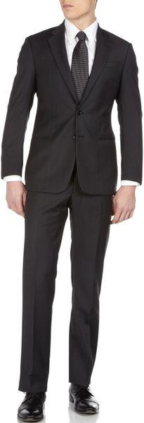Armani Blackberry Twopiece Suit in Black for Men (blackberry)