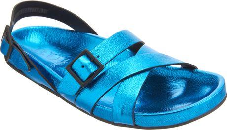 Burberry Metallic Bellgreen Sandal in Blue for Men (black)