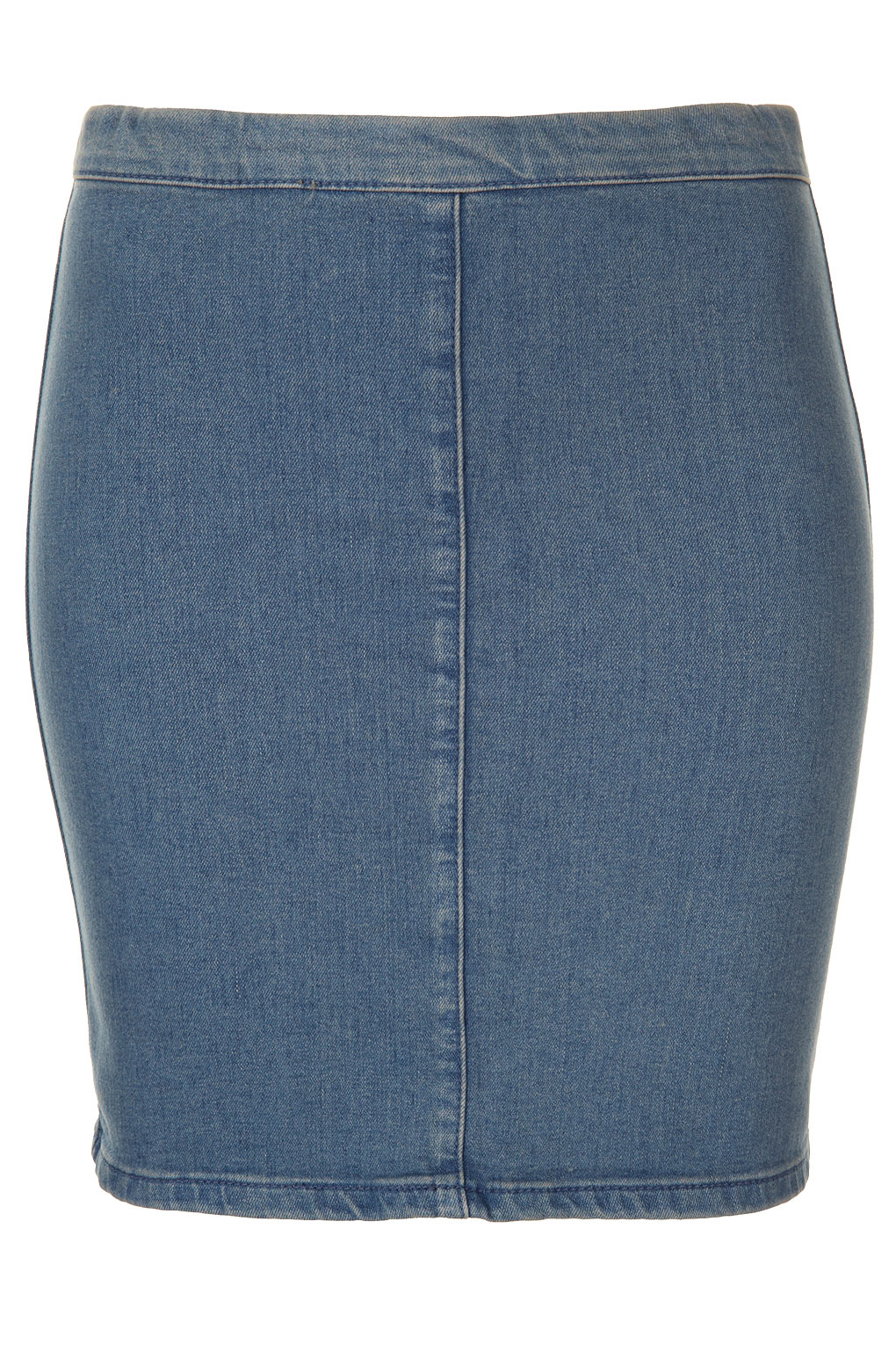 Topshop Moto Bodycon Denim Skirt in Blue | Lyst