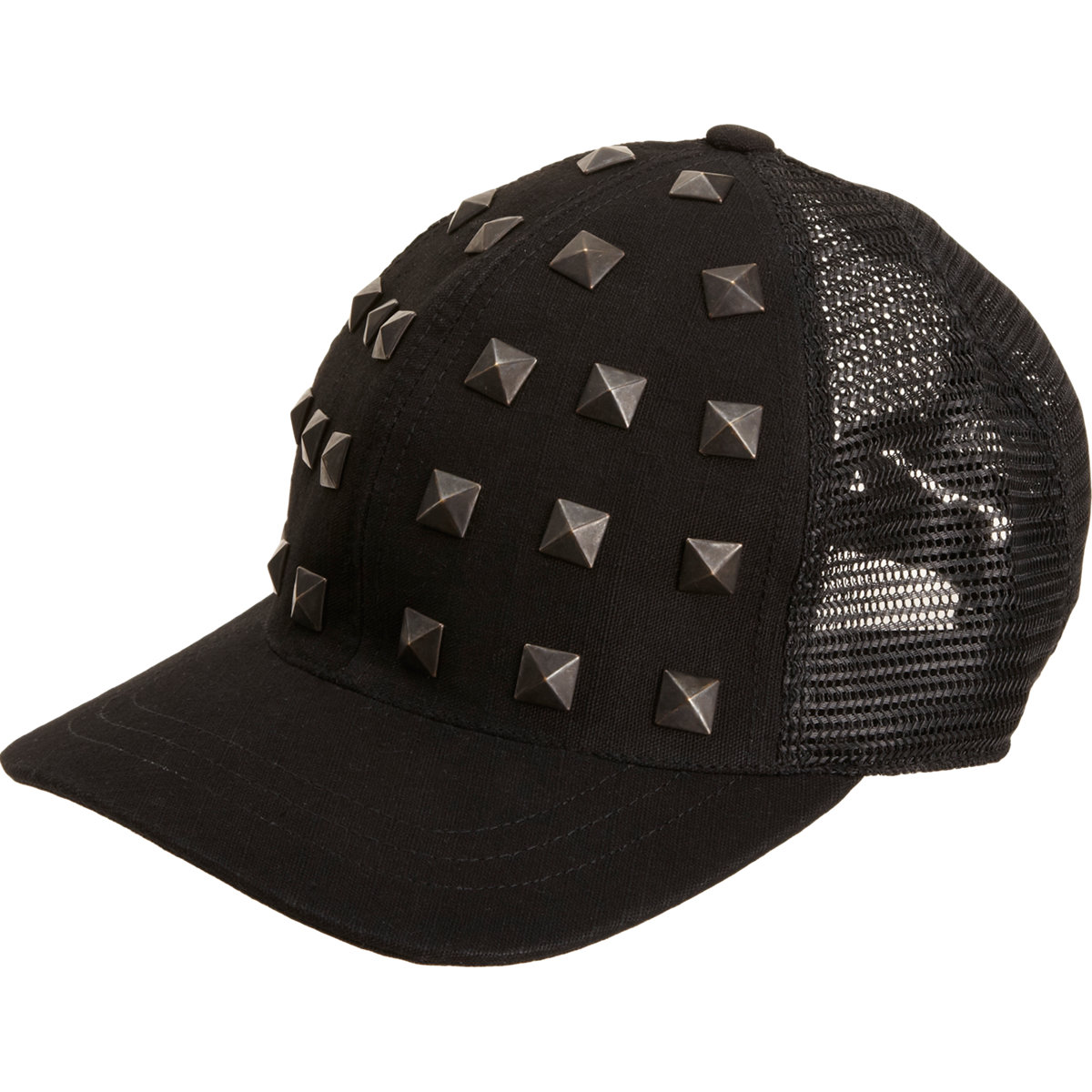 7bdd378ccb9 Nice Collective Pyramid Stud Baseball Cap in Black for Men - Lyst