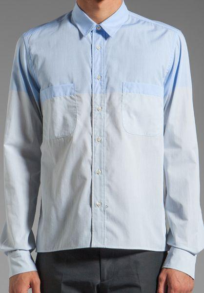sidian ersatz vanes slim and cropped shirt w pockets
