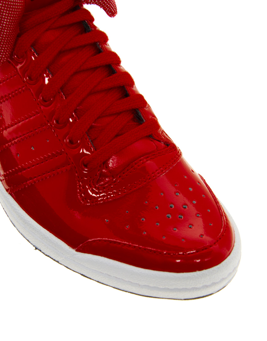 Top Ten Sparring Gloves In Red Used By World Champions: Adidas Top Ten Hi Sleek Bow Zip Trainers