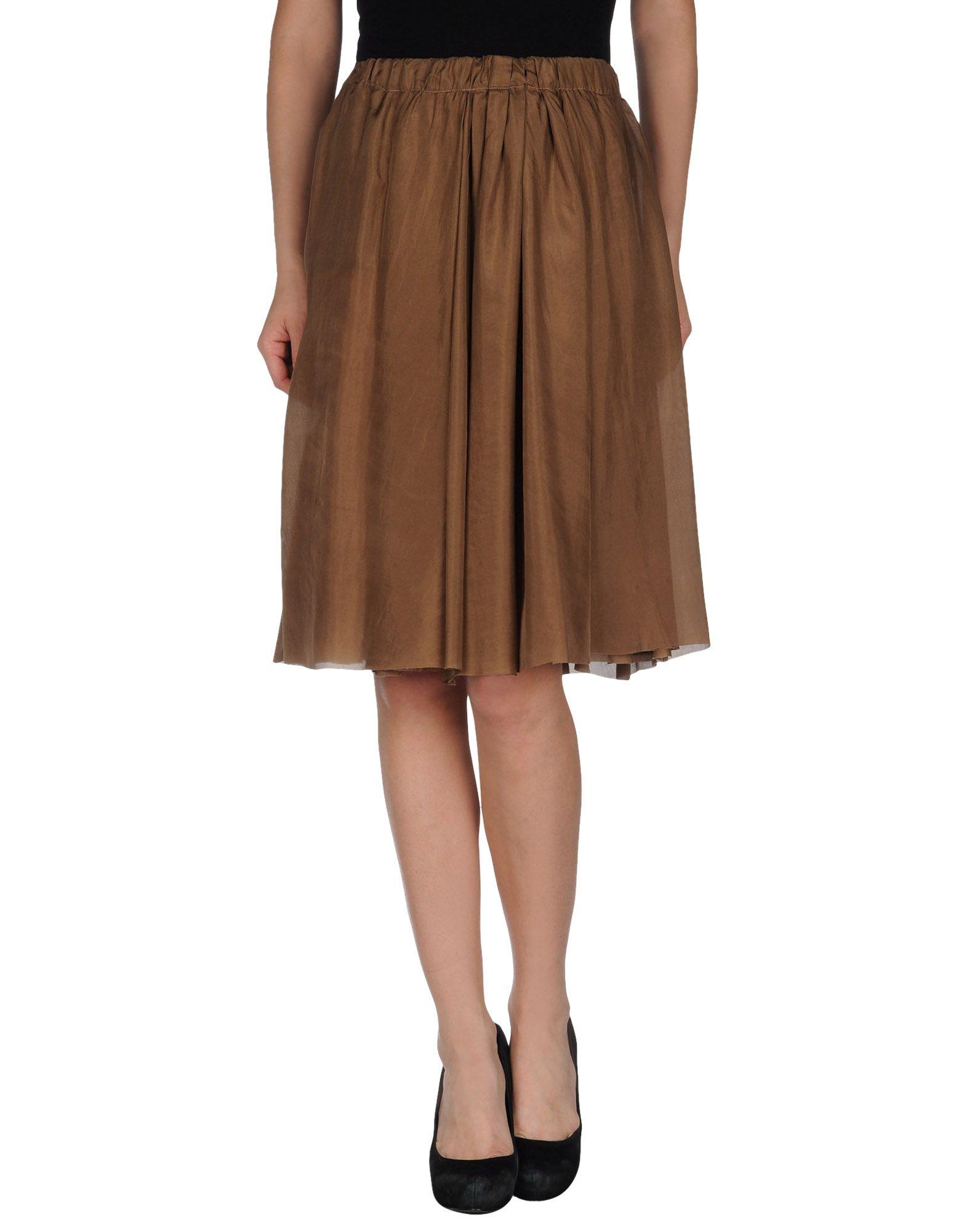 alysi knee length skirt in brown save 73 lyst
