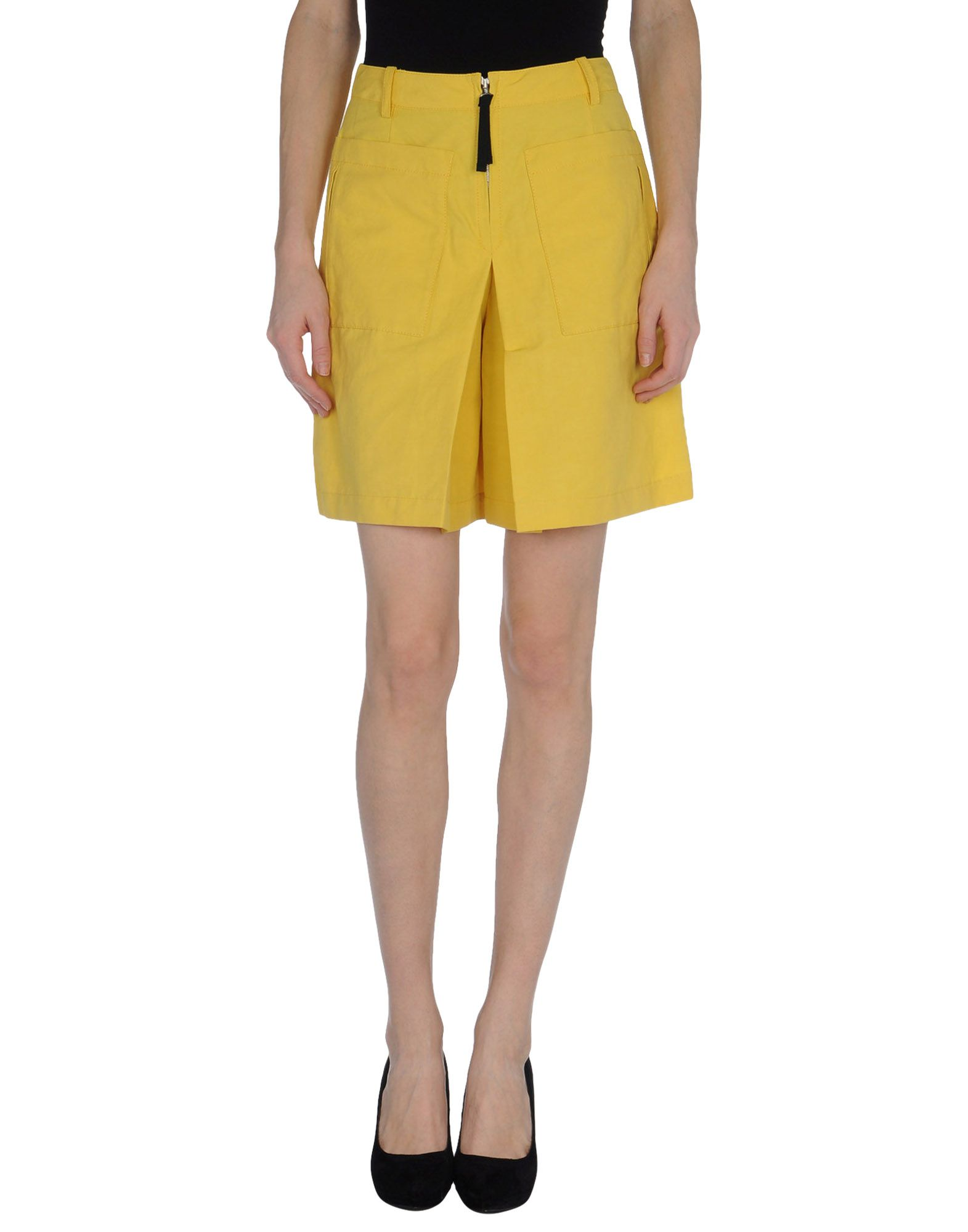 marni knee length skirts in yellow lyst